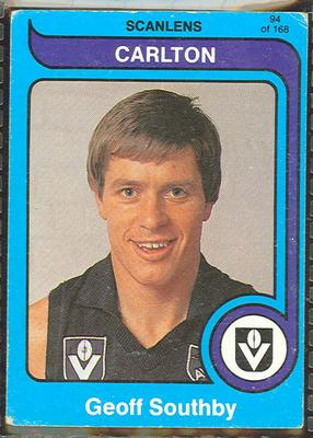 1980 Scanlens (Scanlens) Australian Football Geoff Southby Trade Card