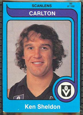 1980 Scanlens (Scanlens) Australian Football Ken Sheldon Trade Card