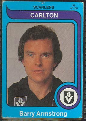 1980 Scanlens (Scanlens) Australian Football Barry Armstrong Trade Card