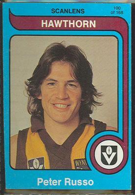 1980 Scanlens (Scanlens) Australian Football Peter Russo Trade Card