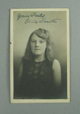 Postcard, image of Gertie Smith