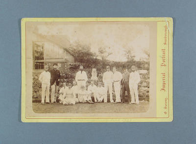 Photograph of Australian cricket team, Scarborough - 1882