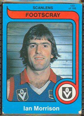 1980 Scanlens (Scanlens) Australian Football Ian Morrison Trade Card