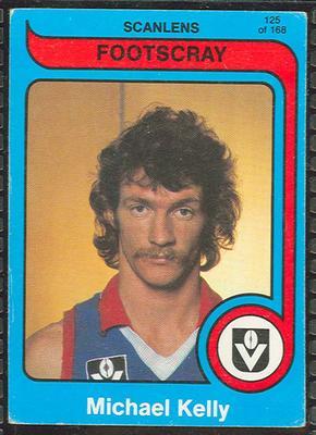 1980 Scanlens (Scanlens) Australian Football Michael Kelly Trade Card