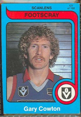 1980 Scanlens (Scanlens) Australian Football Gary Cowton Trade Card