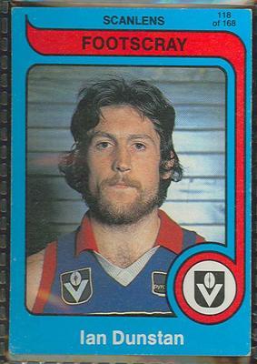 1980 Scanlens (Scanlens) Australian Football Ian Dunstan Trade Card