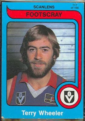 1980 Scanlens (Scanlens) Australian Football Terry Wheeler Trade Card