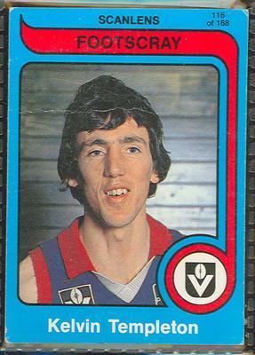 1980 Scanlens (Scanlens) Australian Football Kelvin Templeton Trade Card