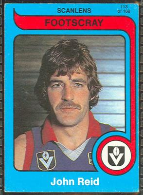 1980 Scanlens (Scanlens) Australian Football John Reid Trade Card