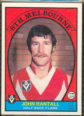 1978 Scanlens (Scanlens) Australian Football John Rantall Trade Card
