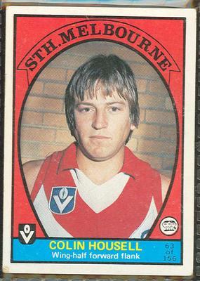 1978 Scanlens (Scanlens) Australian Football Colin Housell Trade Card