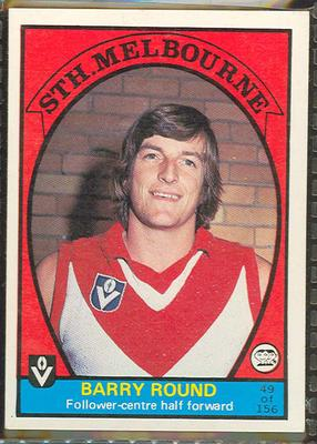 1978 Scanlens (Scanlens) Australian Football Barry Round Trade Card