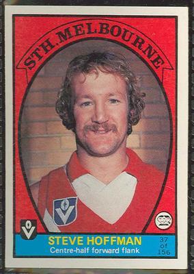 1978 Scanlens (Scanlens) Australian Football Steve Hoffman Trade Card; Documents and books; 1999.3500.184