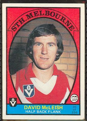 1978 Scanlens (Scanlens) Australian Football David McLeish Trade Card