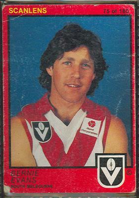 1982 Scanlens (Scanlens) Australian Football Bernie Evans Trade Card