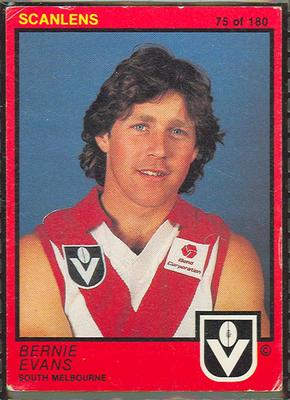1982 Scanlens (Scanlens) Australian Football Bernie Evans Trade Card
