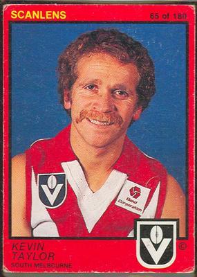 1982 Scanlens (Scanlens) Australian Football Kevin Taylor Trade Card