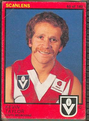 1982 Scanlens (Scanlens) Australian Football Kevin Taylor Trade Card