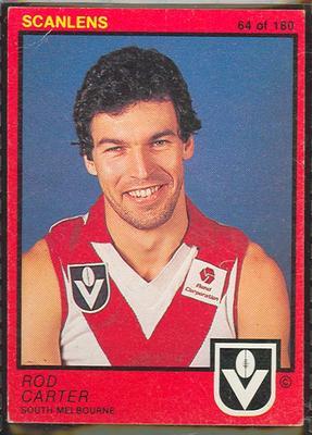 1982 Scanlens (Scanlens) Australian Football Rod Carter Trade Card
