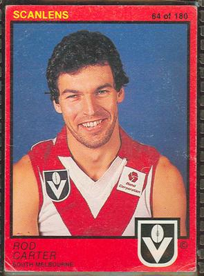 1982 Scanlens (Scanlens) Australian Football Rod Carter Trade Card