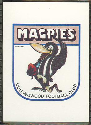 1981 Scanlens (Scanlens) Australian Football Collingwood Football Club Checklist Trade Card