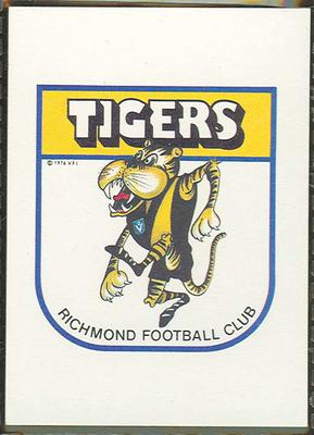 1981 Scanlens (Scanlens) Australian Football Richmond Football Club Checklist Trade Card