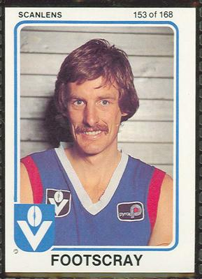 1981 Scanlens (Scanlens) Australian Football Peter Hickmott Trade Card