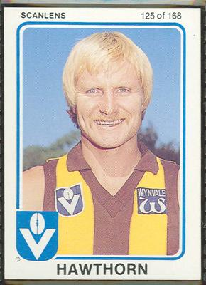 1981 Scanlens (Scanlens) Australian Football Peter Knights Trade Card