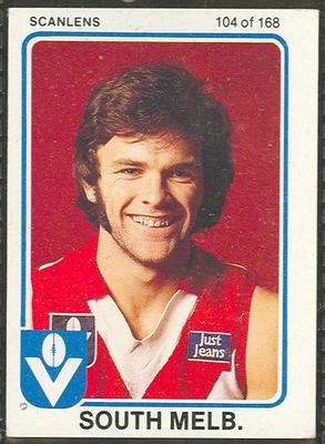 1981 Scanlens (Scanlens) Australian Football David Ackerly Trade Card