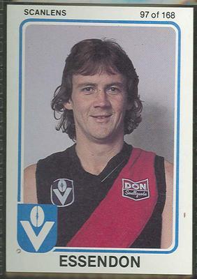 1981 Scanlens (Scanlens) Australian Football Gary Foulds Trade Card