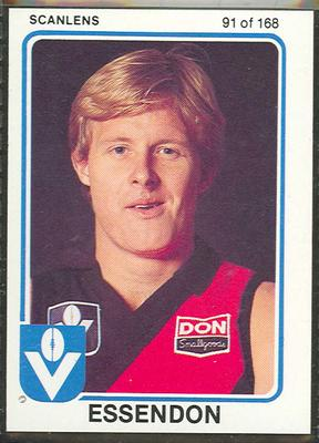 1981 Scanlens (Scanlens) Australian Football Alan Stoneham Trade Card