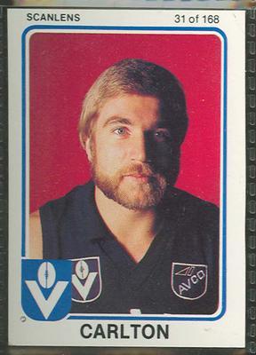 1981 Scanlens (Scanlens) Australian Football Robert Klomp Trade Card