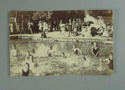 Postcard, image of swimming carnival at Chiltern