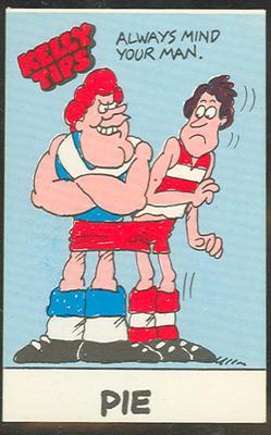 1978 Four 'N' Twenty Pies (Four 'N' Twenty Pies) Australian Football Kelly Tips Trade Card