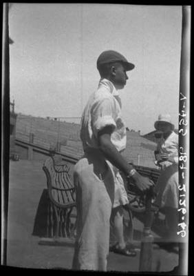 Negative, depicts a cricketer c1932
