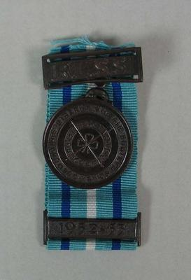 Bronze Medallion and Bar awarded to Jane Harvey, 1951 and 1952-53
