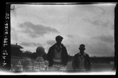 Negative, depicts Australian cricketers c1932