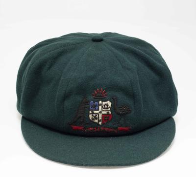 Baggy green cap worn by Bill Woodfull, 1934