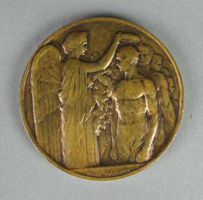 Competitors medal awarded to Nick Winter, 1924 Paris Olympic Games