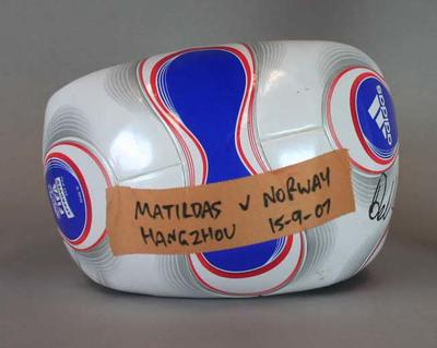 Football used in  FIFA Women's World Cup match - Australia v Norway, 15 September 2007, Hangzhou, China.