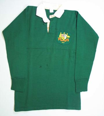 Australian national rugby union jersey worn by Malcolm Blair, 1931