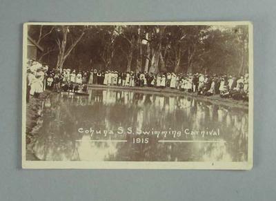 Postcard, image of Cohuna SS Swimming Carnival - 1915