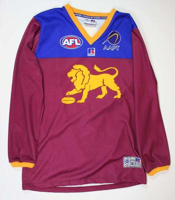 Brisbane Lions guernsey worn by Chris Johnson, 2003