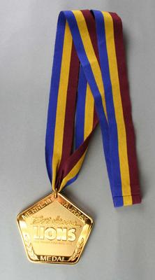 Un-awarded Merrett Murray Medal created by the Brisbane Lions Football Club; Trophies and awards; N2013.68.9