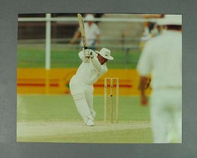 Colour photograph of Keith Arthurton batting, Australia v West Indies 1992-93