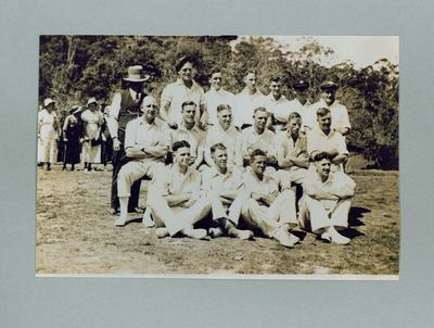 Photograph of South Melbourne FC cricket team, 1933; Photography; 1994.2963.18