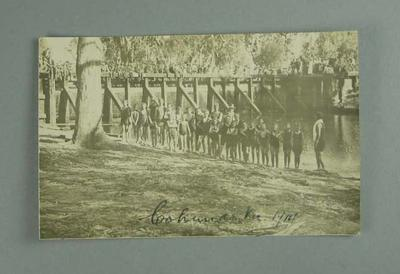 Postcard, image of swimmers at Cohuna - 1914