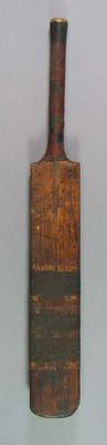 Autographed cricket bat, used in benefit match at the MCG - 1910