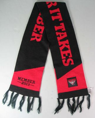 Essendon Football Club member's scarf, 2013