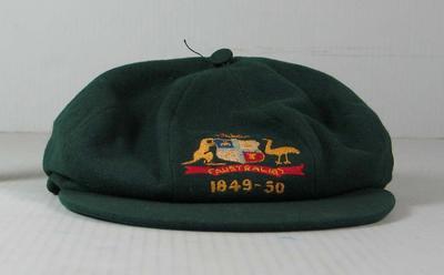 Baggy green cap worn by Ian Johnson, 1949/50